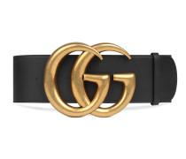 Breiter Ledergürtel mit GG-Schnalle