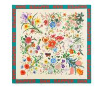 Gucci-Dapper Dan Tuch aus Seide mit Flora-Print