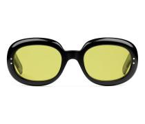 Sonnenbrille aus Azetat mit ovalem Gestell