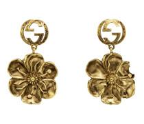Ohrringe aus Metall mit Blumen-Detail