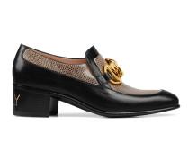 Damen-Loafer mit Eidechsenleder