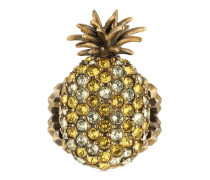 Ananas-Ring aus Metall mit Kristallen