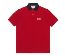 Poloshirt mit GG Stickerei
