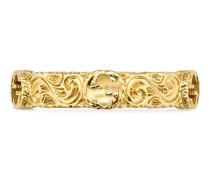 Ring aus Gelbgold mit GG