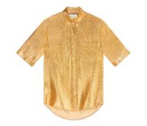 Hemd aus Lurex-Crêpe