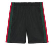 Shorts aus technischem Jersey mit Web