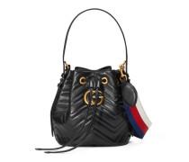 GG Marmont Bucket Bag aus gestepptem Leder