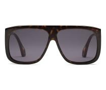 Sonnenbrille mit quadratischem Rahmen und Scheuklappen