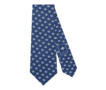 Krawatte aus Seidensablé mit GG