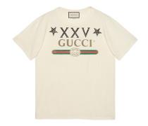 Übergroßer T-Shirt mit Gucci Logo und Sternen