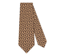 Krawatte aus Seide mit G Rhombus-Print