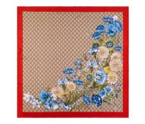 Halstuch aus Seide mit GG Blumenstrauß-Print