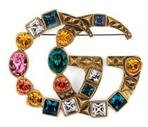 Brosche mit GG und Kristallen