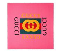 Halstuch aus Modal und Seide mit Gucci Logo