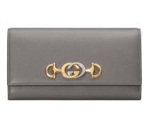 Gucci Zumi Continental Brieftasche aus Leder