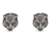 Felinekopf-Manschettenknöpfe aus Silber