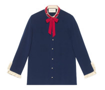 Hemd aus Seide mit Halsschleife
