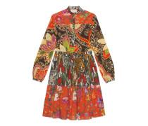 Kleid mit Patchwork-Print