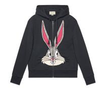 Pullover aus Baumwolle mit Bugs Bunny-Motiv