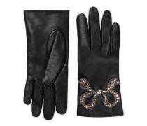 Handschuhe aus Leder mit Schleife