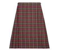 Shorts aus Wolle mit Schottenkaro