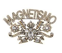 Magnetismo Brosche mit Kristallen