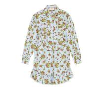 Hemd aus gestreifter Baumwolle mit Blumenstrauß