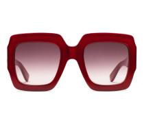 Sonnenbrille mit quadratischem Rahmen