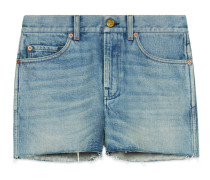 Shorts aus Denim mit Patchs