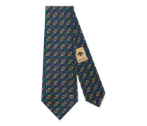 Krawatte mit Horsebit-Rhombus-Motiv