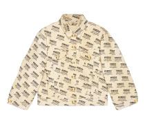Jacke aus Denim mit GucciStamp-Druck