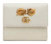 Brieftasche aus Leder mit Schleife