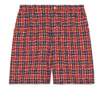Shorts aus kariertem Tweed