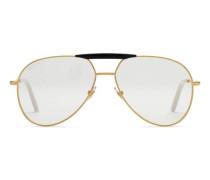 Pilotenbrille aus Metall