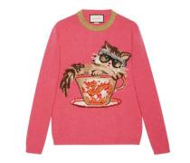 Pullover aus Wollstrick mit Ignasi Monreal-Motiv
