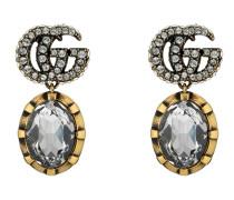 Ohrringe mit Doppel G und Kristallen