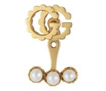 Einzelner Doppel G Ohrring mit Perlen