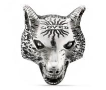 Anger Forest Wolfskopf-Ring aus Silber