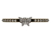 Eng anliegende Schmetterling-Halskette mit Kristallen