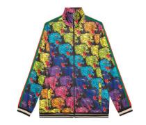 Jacke aus technischem Jersey mit Panthergesicht