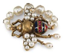 Bienen-Armband mit Kristallen und Perlen