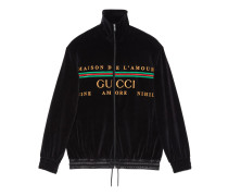 Übergroße Jacke aus bestickter Chenille