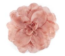 Blumen-Brosche aus Seide und Baumwolle