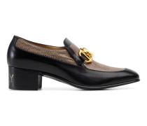 Herren-Loafer aus Leder mit Horsebit-Kette