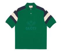 Übergroßes Poloshirt mit Tennis