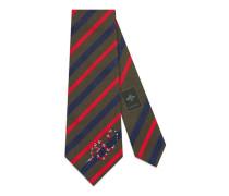 Krawatte aus gestreifter Seide mit Kingsnake