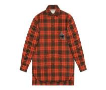 Übergroßes Anker-Hemd aus karierter Wolle