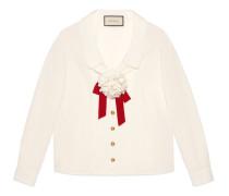 Hemd aus Baumwolle mit Brosche