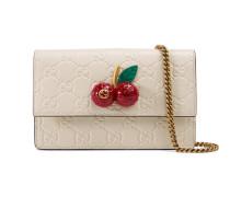 Mini-Tasche aus Gucci Signature mit Kirschen