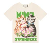 Übergroßes T-Shirt mit Katzen-Print